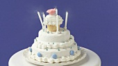Birthday candles on a white cake