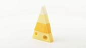 Pyramid of different sorts of cheese