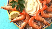 Prawns with mayonnaise