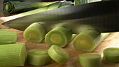 Slicing leeks