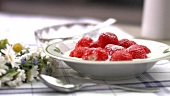 Strawberries with milk and sugar
