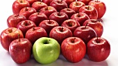 Red apples and one green apple