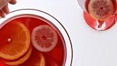 Punch with citrus fruit