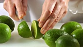 Cutting up limes