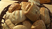 Bread rolls in bread basket