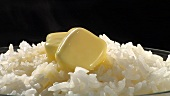 Rice with knobs of butter