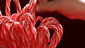 Red and white striped candy canes