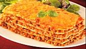 Eine Portion Lasagne