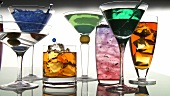 Coloured cocktails