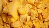 Cornflakes ausschütten