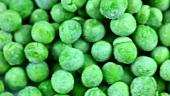 Frozen peas (macro zoom)
