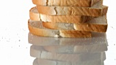 A stack of sliced bread