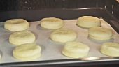 Scones in an oven
