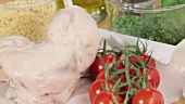 Zutaten für Hähnchen-Orzo-Salat