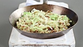 Bubble & Squeak in a pan
