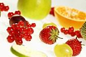 Fresh fruits, close-up, tilt view