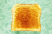 Slice of toast, close-up, elevated view