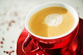 A cup of coffee with crema