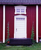 Entrance door to a Swedish house