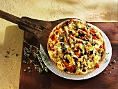 Salerno pizza with olives and onions