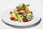 Chicken fillet on lettuce
