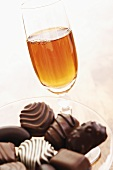 Sherry and chocolates