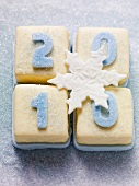 Petit fours with numbers (2010 for New Year)