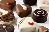 Assorted chocolates for Valentine's Day