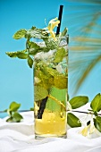 Glass of Ice Tea with Mint
