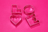 Biscuit cutters for 'LOVE' biscuits