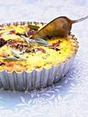 Bacon quiche with sage