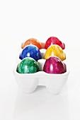 Easter eggs in egg holder