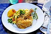 Lemon chicken with vegetable fried rice