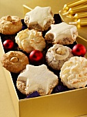 Box of Christmas biscuits