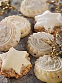 Springerle cookies and cinnamon stars