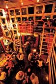 Guests at Tower Bar at Hotel Hafen in evening, Hamburg, Germany