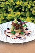 Salat von Aal , Foie Gras und Artischocken