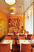 Interior of Goldfish Restaurant in Hamburg, Germany