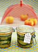 Homemade apple relish with mint