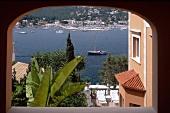 """Ausblick auf Puerto de Andratx aus dem Hotel """"Villa Italia""""."""