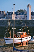 Fishing boat at port of Roscoff, Brittany, France