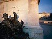 Statue of Louis XIV in Place Bellecour, Lyon, France