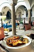 Andalusian specialty faisan at elegant El Convento, Spain