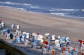 View of beach of Westerland in Sylt, Germany