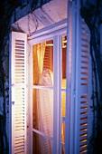 Window with open shutters in Domaine de la Tortiniere France