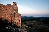 Ruined walls in Eygalieres, Provence-Alpes-Cote d'Azur, France