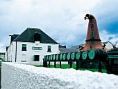 View of Bruichladdich distillery in Scotland