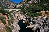 View of Herault Gorge in Languedoc-Roussillon, France
