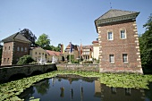 View of Moated castle Anholt at North Rhine-Westphalia, Germany
