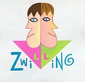 Sternzeichen Zwillinge - abstrakte Zeichnung